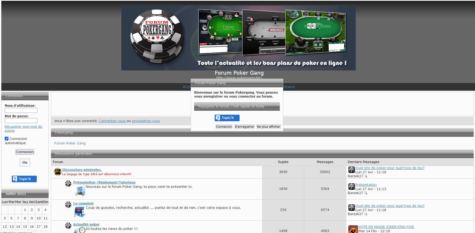 Forum poker poker gang