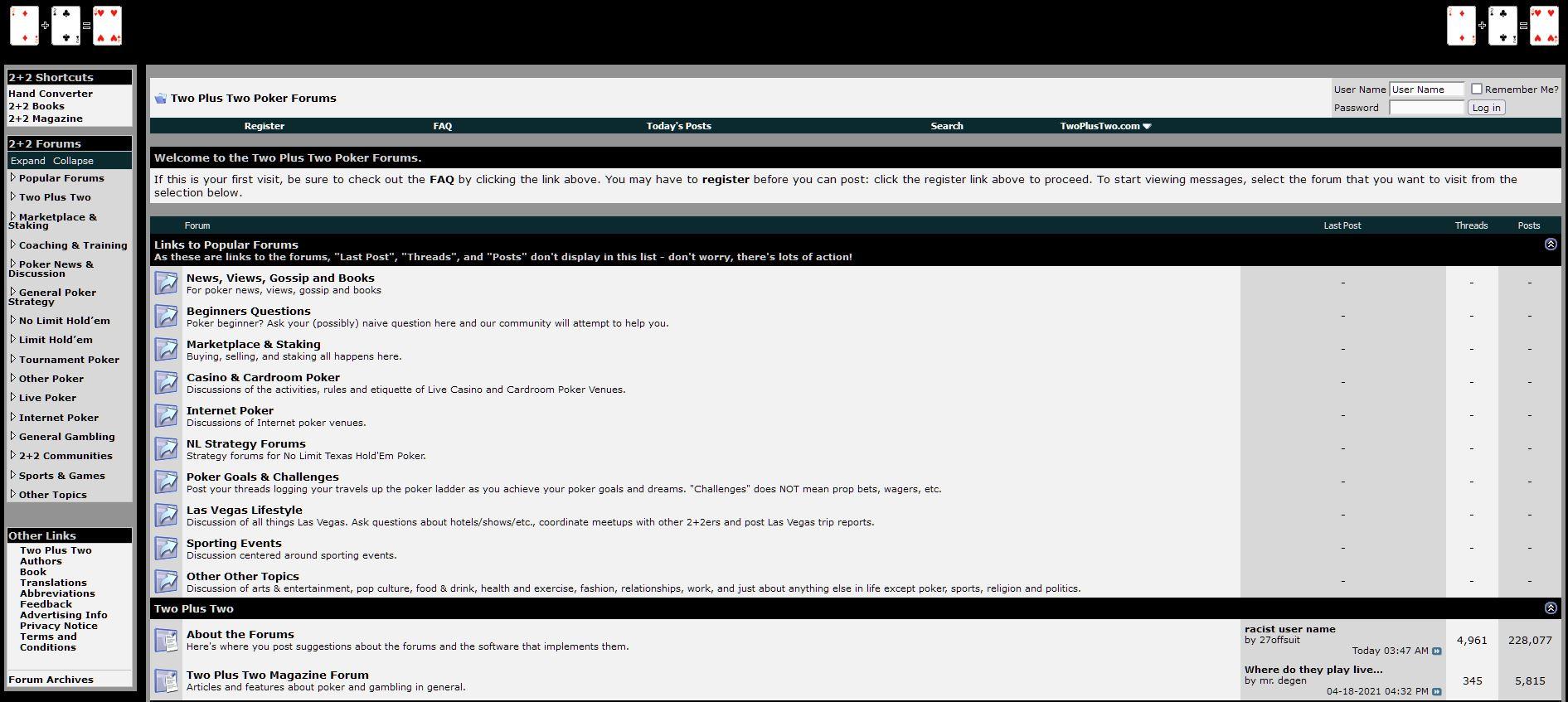 forum pokerTwoPlusTwo